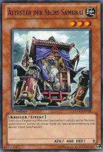 X-Säbel-Deck mit Sechs-Samurai Karten