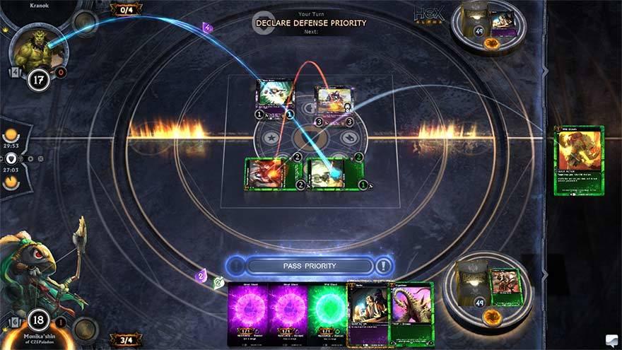 Screenshot einer Verteidigungsaktion