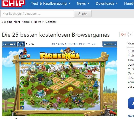 Browsergames bei Chip.de